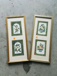 two brown wooden framed painting of flowers Ringgold, 30736