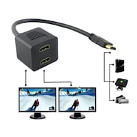 HDMI Male To Two HDMI Female Y Splitter Adapter Cable Lungsod Quezon
