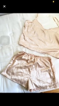 Gold Satin Two Piece Set (Sz M-L) Toronto, M6A 2T9