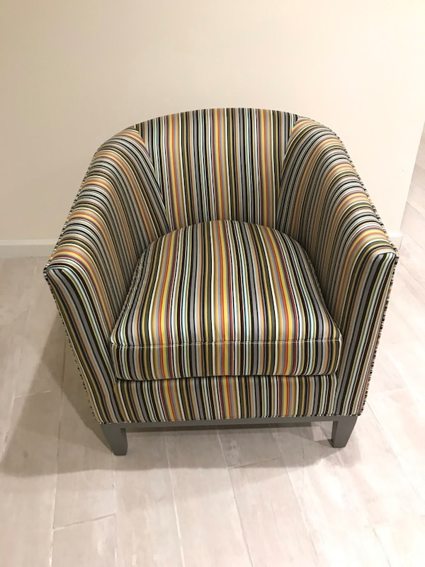 Marvelous Crate And Barrel Accen Striped Sofa Chair Andrewgaddart Wooden Chair Designs For Living Room Andrewgaddartcom