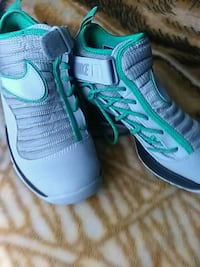 pair of green-and-white Nike running shoes Schaumburg, 60173