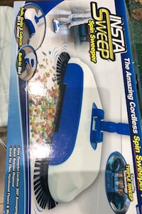 Cordless spin sweeper