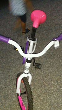 white and purple bicycle with training wheels Toronto, M6N 4Z8