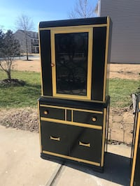 Refinished Waterfall Design China Cabinet Fort Mill, 29708