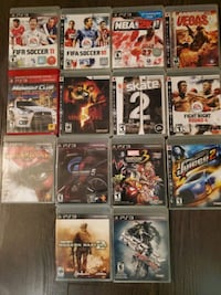 PS3 games for sale. Surrey, V3T 5X7