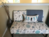 Floral love seat (NEVER USED) **SEE MATCHING AQUA CABINET IN SEPARATE POST**  Joliet, 60586