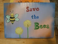 """""""Save the Bees"""" Garden Sign"""