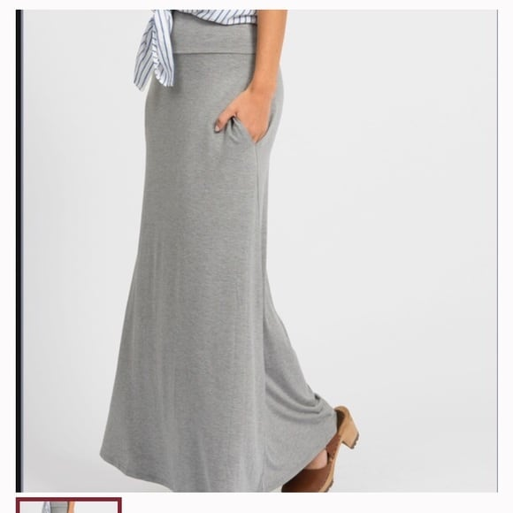 Maxi Skirt Pocket Ash