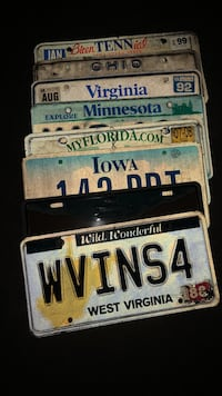 Collectible license plates variety pack Sterling, 20165