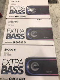SONY SRS-XB40 BLUETOOTH SPEAKER  Mississauga