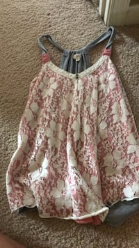 white and pink floral spaghetti strap top Fairfax, 22030