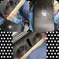 "2 12"" Massive 1000 watt w/ box and amp Worthing, 57077"