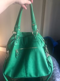 Green messenger style side bag Calgary, T2R 0L7