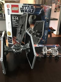 Lego Star Wars TIE Fighter. Comes with all four mini figs, instructions and box. Excellent condition. Vancouver, V6N 2K8