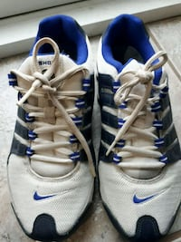 pair of white-and-blue Nike running shoes St. Catharines, L2R 6B5