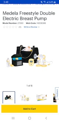 Madela Freestyle Double Breast Pump  Surrey, V4N 1H5
