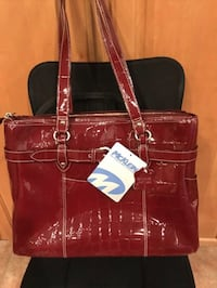McKlein Red Leather Bag / Laptop Tote NEW Pinole, 94564