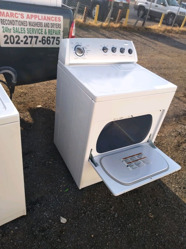 Whirlpool heavy duty washer and dryer set works good 6 month warranty 09df5b6f-aa67-4d1d-ad97-bda3f0e869f1