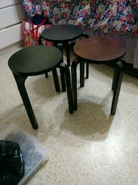 two black wooden side tables Miami, 33145