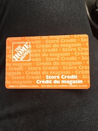 Home Depot card $51.10 asking $40 Edmonton, T6N 1J2