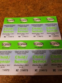 9 bus tickets Durham transit  Pickering, L1W 3R3