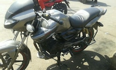 gray and black standard motorcyle