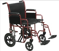 BRAND NEW HEAVY DUTY TRANSPORT CHAIR 22 in.   we deliver $.    cards accept.    [TL_HIDDEN]  Clifton, 07012