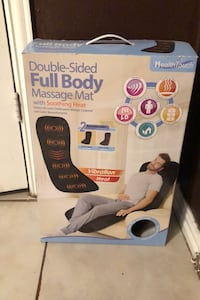 Double sided full body massage mat with soothing heat