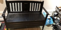 Black wooden bench with storage Anmore, V3H