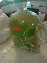 Glass liquor bottle  with neon orange/green sand  Tacoma, 98467