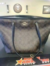gray and black Coach monogram tote bag Northport, 35476