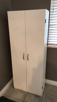 white wooden 2-door cabinet Burnaby, V5E 1Y9