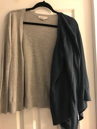 black and gray long-sleeved cardigan size S Arlington, 22201