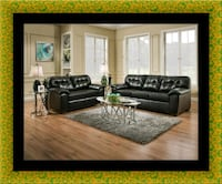 Black bonded sofa and loveseat Beltsville, 20705