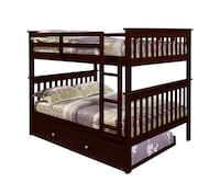 brown wooden bunk bed with mattress Frederick, 21703