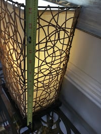 Table lamp. Wicker/tangled wooden lamp. Like brand new.  Sterling, 20165