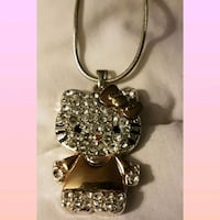 Hello kitty crystal necklace.  Whitby, L1N 8X2