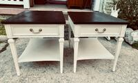 Pair of solid wood midcentury end tables nightstands Kensington, 20895