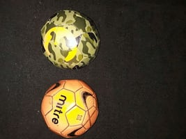 Two Small Soccer Balls