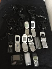All kind of phones for parts or to use Burlington