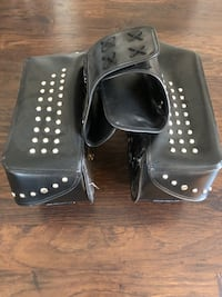Genuine Leather Studded Saddle Bags Aberdeen, 21001