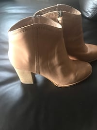 Fossil leather booties