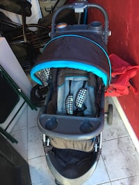 baby's blue and black jogging stroller Provo, 84601