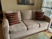 Beige Couch and Loveseat Set Vaughan, L4J