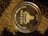 96 Chicago Bulls Central Division Champs Silver Oz