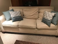 Beige linen sofa from Pottery Barn, with the pillow set $425.00 Washington, 20008