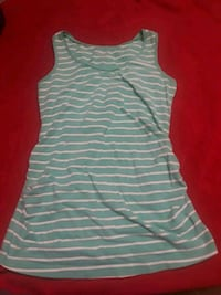 white and gray stripe sleeveless dress 1814 mi