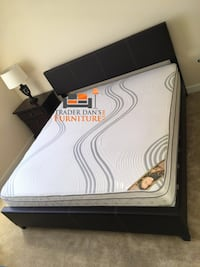 Brand new queen size platform bed frame with pillowtop mattress Silver Spring, 20902