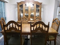 brown wooden dining table with chairs Abbotsford, V3G
