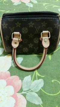 marrone Louis Vuitton borsa in pelle di monogramma
